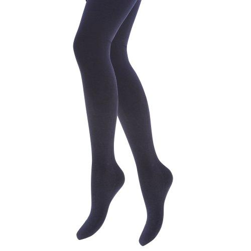 Collants thermiques unis extra chauds avec intérieur brossé - Femme Noir
