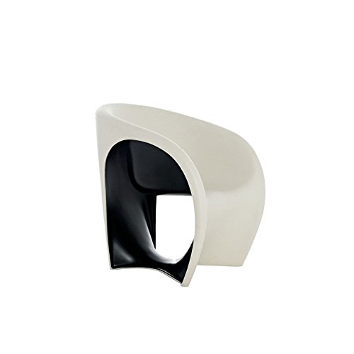 Driade MT1 Outdoor Armlehnstuhl - sandweiß/schwarz - Ron Arad - Design - Gartenstuhl