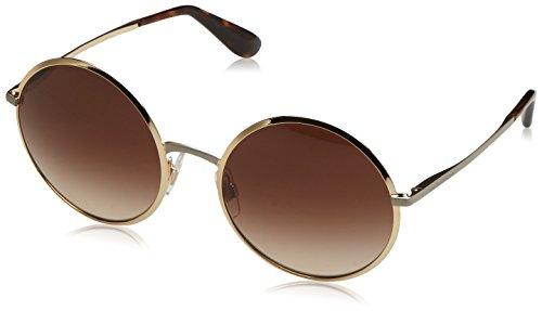 Dolce & Gabbana Damen 0DG2155 129713 56 Sonnenbrille, Gold/Browngradient