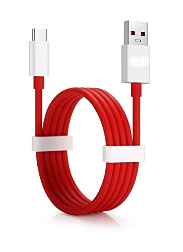 RSC POWER+ Dash Data Sync Fast Charging Cable Supported for All C Type Devices (Red and White)