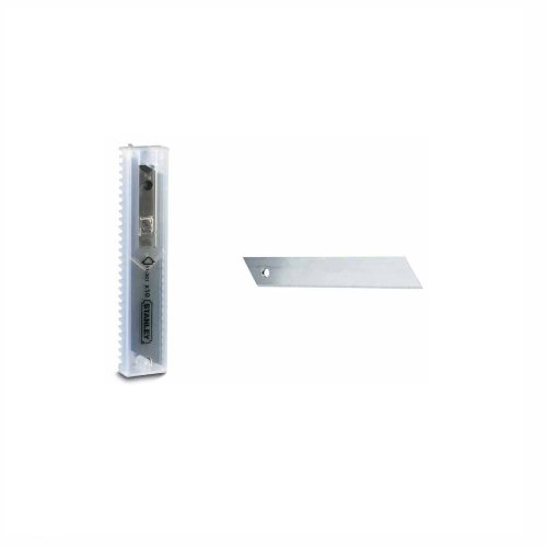 Stanley Abbrechklingen (9 mm, 100 Stück im Spender, gerade Schneide, 12 Segmente, 0.43 mm Klingenstärke) 1-11-300 (Cutter Bessey-box)