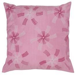 Rajrang Kissenbezüge Designer Bestickt Rosa Polydupion Kissenbezug 2 St. - Seide Bestickt Indien Kissen Kissen