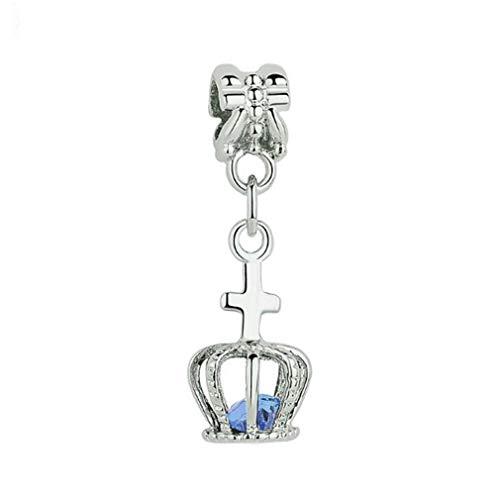 8bea0bff6 ningbao951 Metal Alloy Rhinestone Pendant Charms Bead Dangle For DIY Necklace  Bracelet Crown Pendant DIY Making