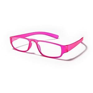 Extrem leichte Filtral Lesebrille in der Trendfarbe Pink/Moderne eckige Lesehilfe für Damen & Herren