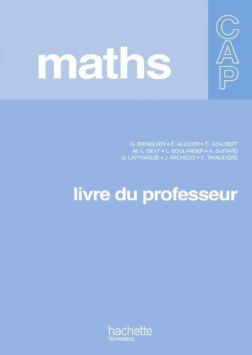 Mathématiques CAP - Livre professeur - Ed.2010 by Eliane Alquier (2010-05-21)