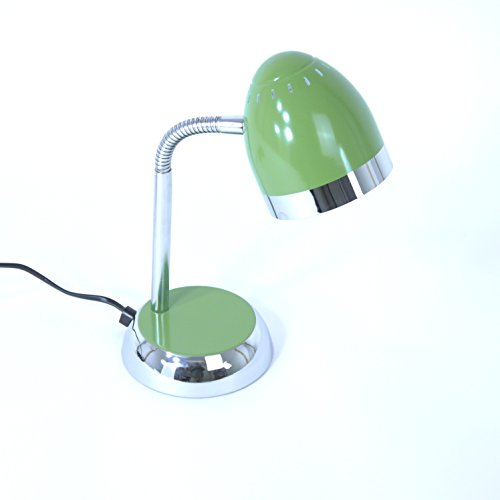 Schreibtischleuchte Tom grün-chrom verstellbar mit Flexarm, E14, max. 40 W