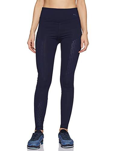 Puma Damen Bold Graphic FullTight Leggings, Peacoat-Emboss, S (Puma-peacoat)