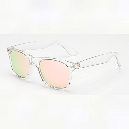 MinegRong Unisex Retro Polarisierte Sonnenbrillen Spiegel Objektiv Vintage Sonnenbrillen für Männer Frauen Polaroid Sonnenbrille UV400 Retro de Sol, KP 1029 C 19. Polaroid 19