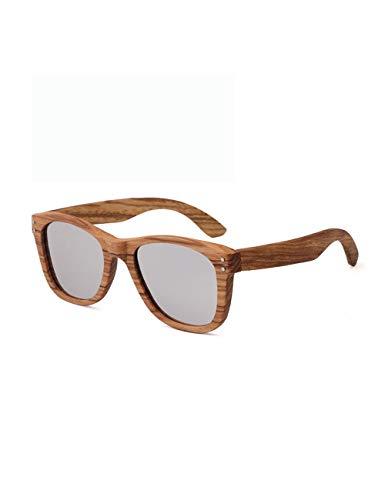 HNPYY Sonnenbrillen Holz Sonnenbrillen Polarisierte Handgemachte Bambus Herren Sonnenbrille, A
