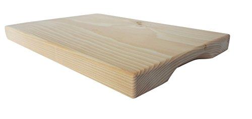 myZirbe - Zirbenholz Frühstücksbrett massiv mit seitlichem Griff 29x20x2 cm Brotzeitbrett Jausenbrett Schneidebrett Rustikal