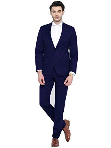 CALVINSUIT Herren Slim Fit 2 Stück Anzug mit Zwei Knöpfen Jacke Smoking Hose Bräutigam Smoking (2-knopf-seersucker-anzug)