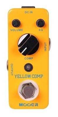 Mooer pedal-amarillo Comp True Bypass-guitarra pedal uso + 2 cierre de correa-679#