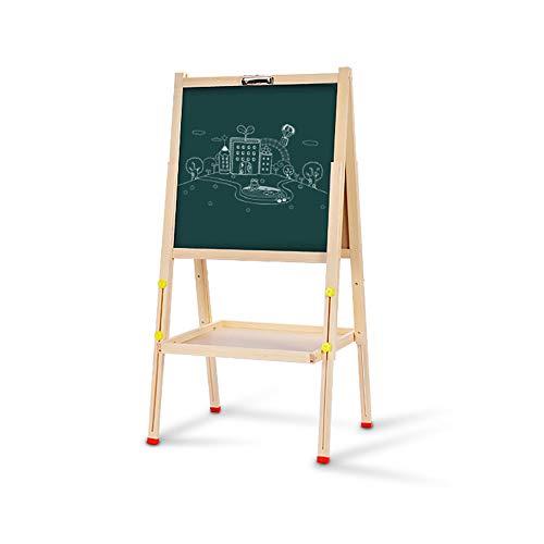 DMMW Zeichenbrett für Kinder Stehen Sie Kunst Staffelei doppelseitige Whiteboard-Tafel mit magnetischen Buchstaben und Zahlen für Kleinkinder Spaß pädagogisches Lernen