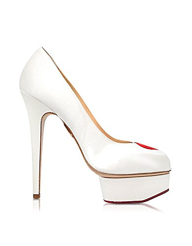 charlotte-olympia-damen-b001145106-weiss-rot-satin-pumps