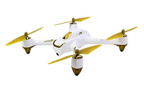 Hubsan 15030050 – X4 FPV Brushless Quadrocopter weiß – RTF-Drohne mit HD-Kamera, GPS, Follow-Me, Akku, Ladegerät und Fernsteuerung mit integriertem Farbmonitor (H501S)
