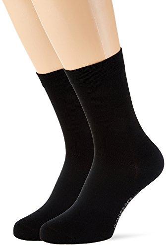 Schiesser Damen Damensocken (2PACK) Socken, (Schwarz 000), 39/42 (Herstellergröße: 403) (2er Pack) (Schwarze Frauen Feine)