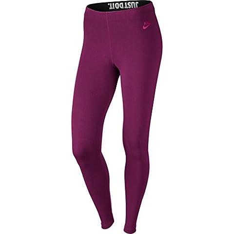 NIKE Damen W Nsw Leg A See Lggng Jdi-Leggings, Wahre Beere Violett/Sport Fuchsia Rosa, M
