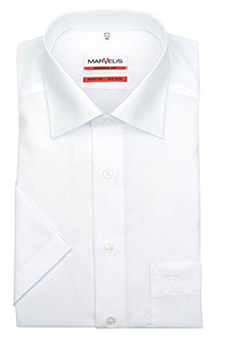 Kurzarmhemd, weiß, Slim/Modern Fit Gr.44