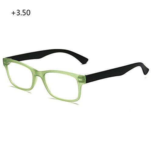 VIccoo Lesebrille, Unisex-Lesebrille Presbyopic Brillen Formatfüllend +1,0 bis +4,0 Portable - Grün - 350