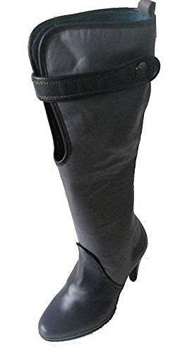 Bottes de Ashley Brooke Cuir en gris/noir noir/gris