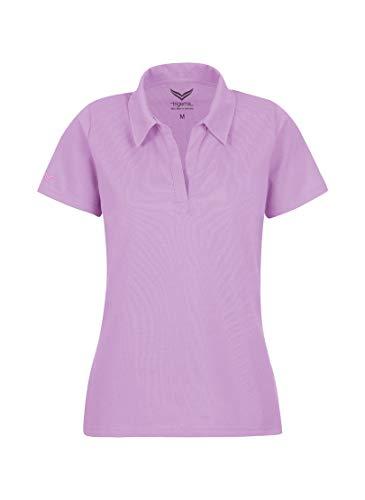 Trigema Damen Poloshirt ohne Knopfleiste (Violett 091)