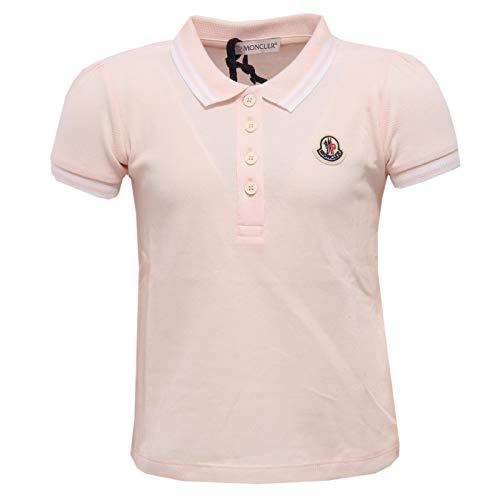 Moncler 4215x polo bimba girl maglia polo t-shirt light pink [18/24 months]