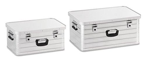 Enders Aluboxen Set 47 und 80 Liter + Schloss Set, hochwertig verarbeitet, mit Moosgummidichtung, Alukiste flexibel verwendbar als Transportbox und Lagerbox - Alukoffer Lagerkisten Metallkiste Metallbox Alubox Alukisten