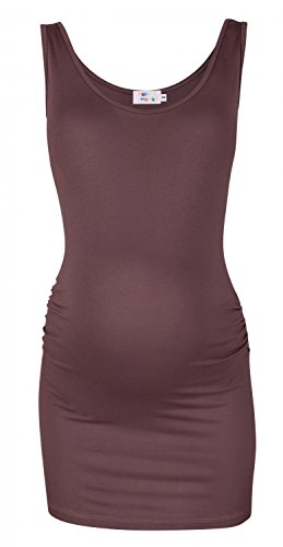 Happy Mama. Women's Maternity Vest Top Tee Tunic. Scoop Neck. Sleeveless. 792p