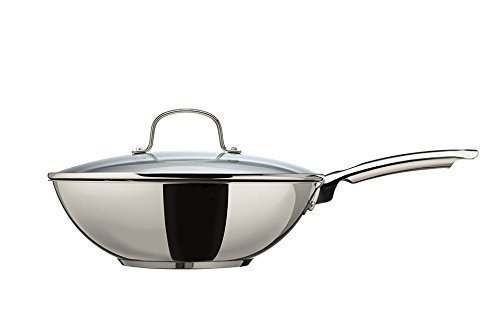 Thomas Cook & Pour 28cm Non Stick Stir-fry Pan with Glass Lid by Thomas Rosenthal