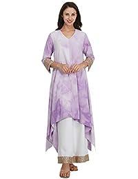 Mala Singh Raeesa Women's Kurta (Cloudy Lavender)