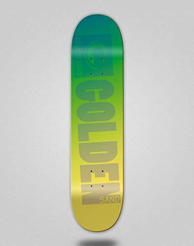 lordofbrands Monopatín Skate Skateboard Deck Golden Sand Dregaded Green to Yellow (8.125)