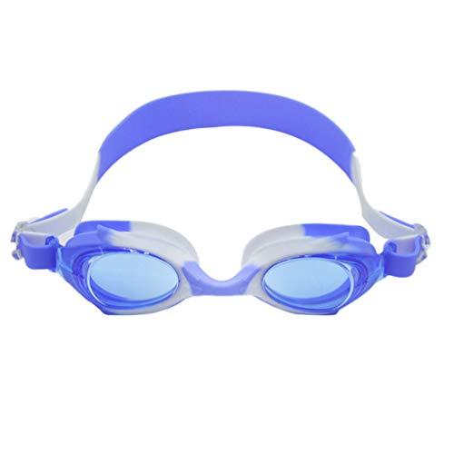 YILONG BOIHON Bambini occhialini da Nuoto Regolabile UV Lenti protette Swim Occhiali Anti-Fog Piscina Spiaggia Mare Nuoto Occhiali