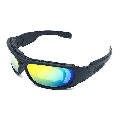 Z.L.F Brille Mode Taktische Sport-Sonnenbrille für das Radfahren Befreien Angeln Golf Baseball polarisierte Sonnenbrille Unisex (Color : Schwarz, Size : One Size)