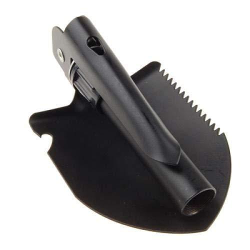 Electomania® Portable Folding Shovel,Compact Camping Gear for Car,Gardening,Snow Shovel with Carry Pouch (Black)