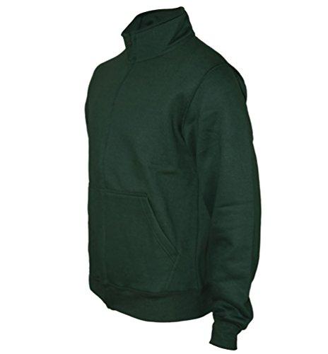 Sweaterjacke Pullover Herren Zipper Jacke Original ROCK-IT Farbe schwarz Dark Heather Grau Navy Emaille Grün