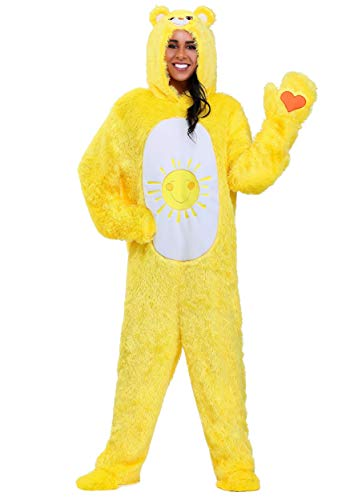 Care Bears Adult Classic Funshine Bear Fancy Dress Costume Medium