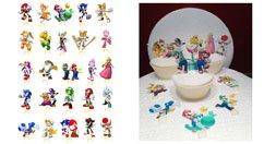Mario Bros und Sonic 1Set Kuchen Party steht auf, essbares Wafer Karte X 25Stück