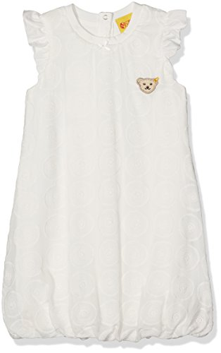 Steiff Baby-Mädchen Kleid Flügelarm, Weiß (Cloud Dancer 1610), 74