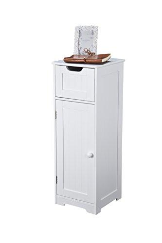 Meuble de rangement pour salle de bain - Design haut, inspiration scandinave, bois blanc, pour chambre, salon et couloir - Gamme Kensa par Elegant Brands