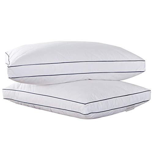 Puredown® Almohadas de Plumas de Ganso, Almohada para Dormir con Funda de 100% Algodón, Juego de 2...