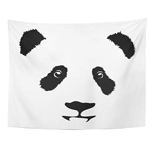 """AOCCK Wandteppiche Tapestry Wall Hanging Bear Panda Animal Cartoon China Bamboo Head Child Toy 60\""""x 80\"""" Home Decor Art Tapestries for Bedroom Living Room Dorm Apartment"""