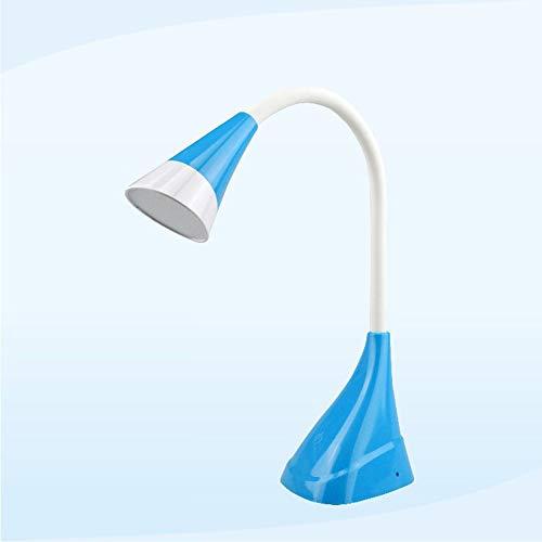 ZHYY 360 Grad frei drehende Tischlampe, LED-Augenschutz-Nachtlicht-tragbarer Kleiner USB-aufladender Multifunktionsnoten-Schalter,Blue