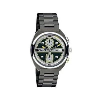 D&G Dolce&Gabbana DW0302 – Reloj cronógrafo de caballero de cuarzo con correa de acero inoxidable gris (cronómetro) – sumergible a 50 metros