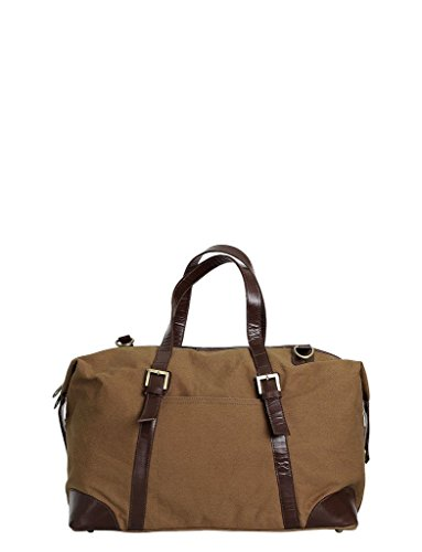 Zobello Urban Travel Duffel Bag(81026D_Chocolate Brown Canvas)