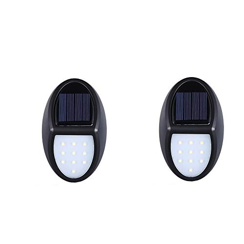 10led Solar Wall Light Ip65 Waterproof Wireless Wall Light Outdoor Porch, Courtyard, Front Door, Treppen, Driveway (2 Sets) - Light Porch Front