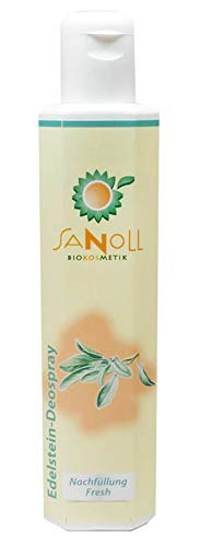 Sanoll, Edelstein-Deospray Fresh - 200 ml (Nachfüllung)
