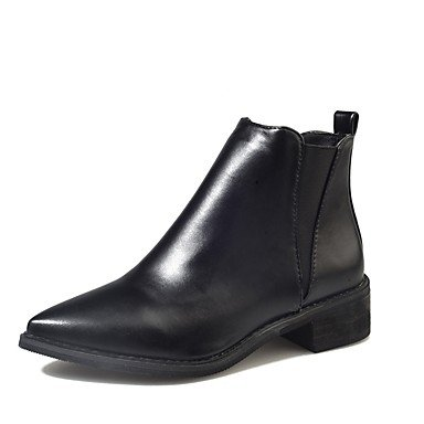 RTRY Scarpe Donna Pu Inverno Comfort Moda Stivali Stivali Chunky Tallone Punta Tonda Gore Per Casual Nero Black Us5.5 / Eu36 / Uk3.5 / Cn35 US8 / EU39 / UK6 / CN39