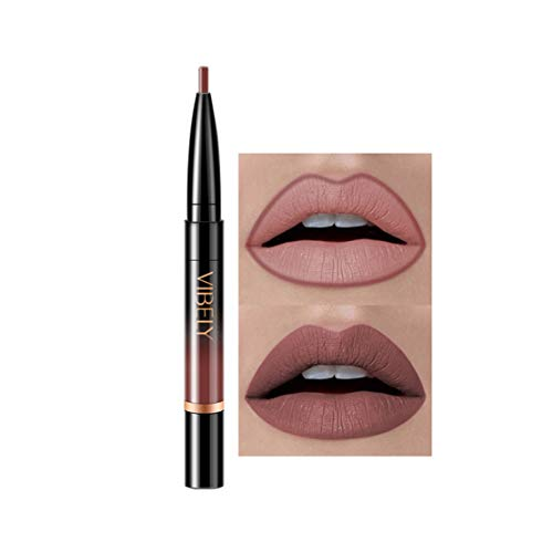 Kltipeng Double-end Lasting Lipliner Waterproof Lip Liner Stick Pencil 16 Color(J) -