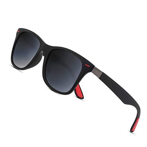 Sunmeet Polarisierte Sonnenbrillen Herren Damen Retro Fahren Elastizität Outdoor Eyewear Sonnenbrillen S1003(grau Gradient)