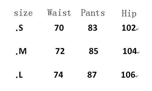 DaBag Donna Pantaloni Vita Alta Donna Eleganti Pantaloni Pantaloni Alta qualità Design allentato Nero